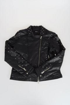 JAKIOO Studded Leather Biker Jacket
