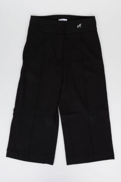 Stretch Viscose Wide Leg Pants