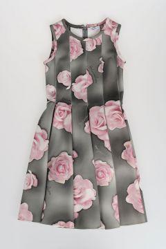 Floral Printed Neoprene Dress