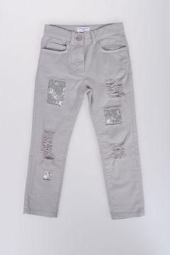 11cm Denim Stretch Jeans with Paillette
