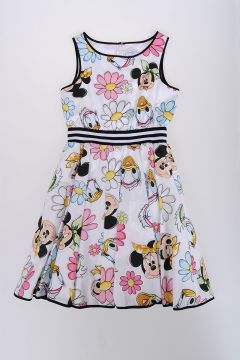 Dress with Tulle and Minnie and Daisy Duck Print