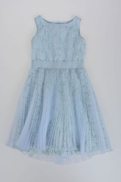 Pleated Dress with Tulle and Lace