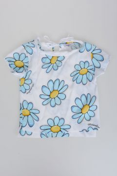 Crepe Top with Daisies