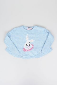Wool Blend White Rabbit Sweater