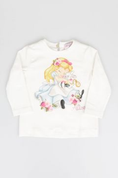 T-shirt Stampa ALICE in Cotone Stretch
