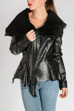 Fur and Leather Jacket