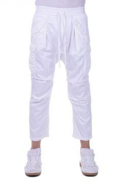 Pantaloni CUPRO HAREM in misto Cotone