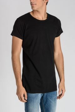 T-Shirt SIDE SLIT in Jersey di Cotone