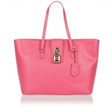 Borsa Shopper Media in Pelle