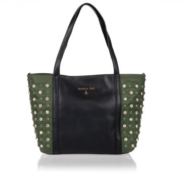 Borsa Shopper con Strass e Borchie