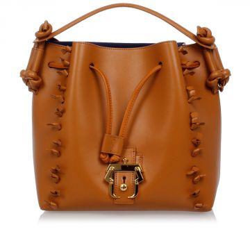 EUGENIE Leather Bucket Bag