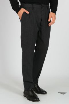 Pantaloni in Gabardina di Misto Lana