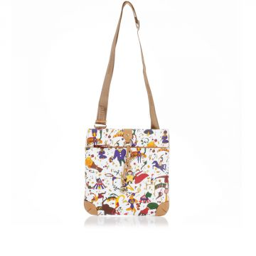 Faux Leather Printed strap Shoulder Bag