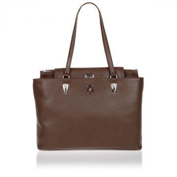BOLD LINE Leather Shopping Shoulder Bag