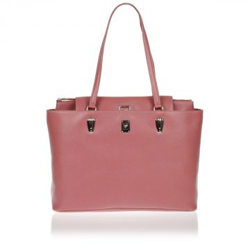 BOLD LINE Leather Shopping Shoulder Bag