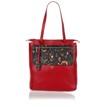 MAGIC CIRCUS Leather Shopping Bag