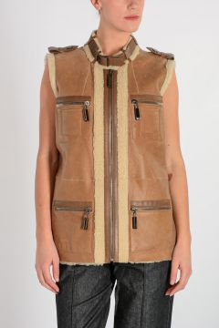 Shearling Sleeveless Jacket
