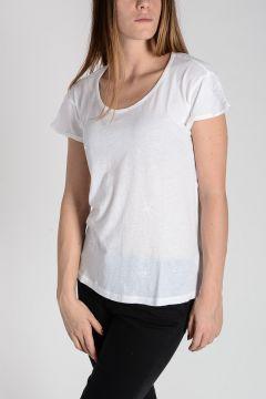 T-shirt in Cotone e Cashmere