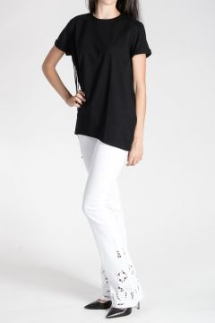 ZOE Cotton T-shirt with Fringes