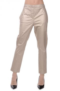Gold Stretch Cotton Pants