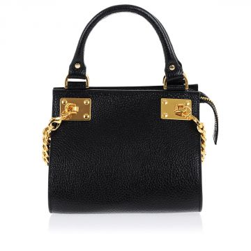 Hand Bag with Gold tone Chain