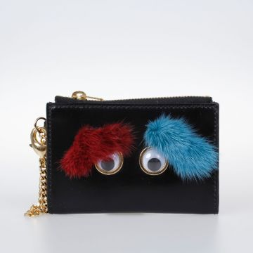 Embellished Leather Coin Pouch