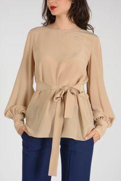 Long Sleeves Silk Top