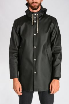 Hooded Rubber Raincoat