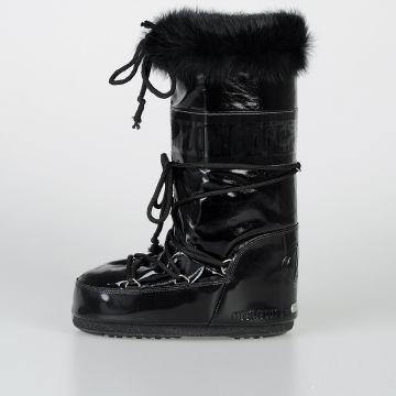 MOON BOOT Stivali da Neve in Vernice e Pelliccia Ecologica