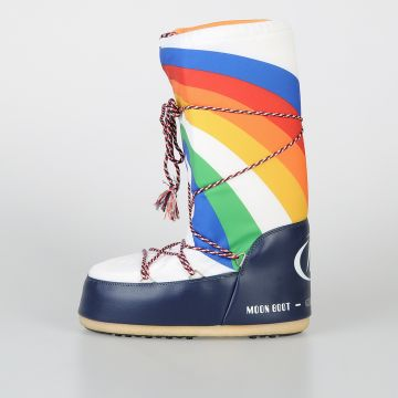 Multicolor Fabric Snow MOON BOOTS