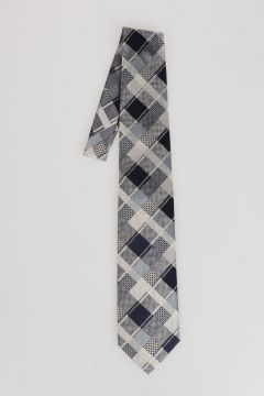 Silk Checked Tie