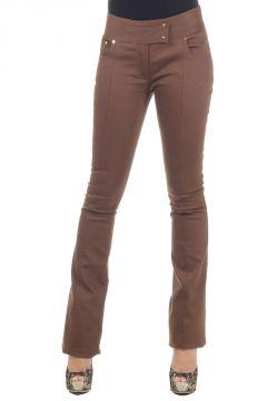 Pantalone bootcut in cotone elasticizzato