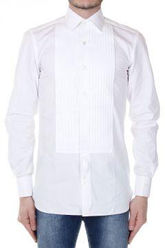 Camicia in Popeline di Cotonew con Plastron