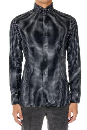 Button-down checket Shirt