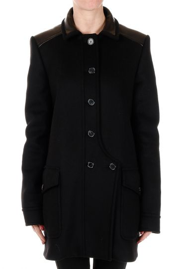 Mixed Virgin Wool Single breasted Coat