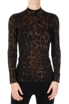 Pure Silk High Neck Sweater