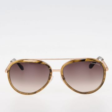 Gold Tone Details Sunglasses