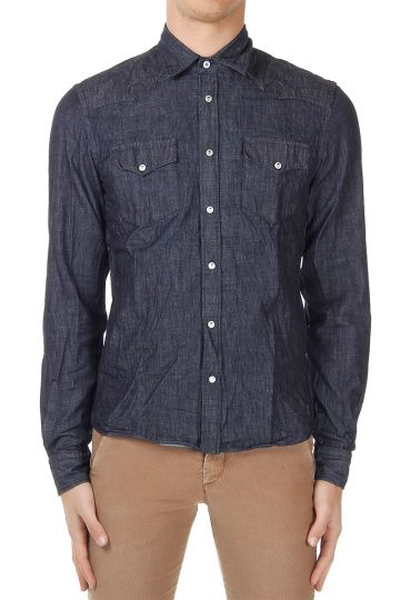 Camicia in Denim di Cotone