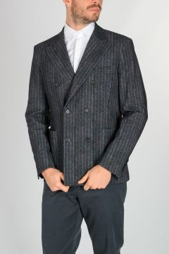 Pinstriped Stretch Nylon SOLFERINO Blazer