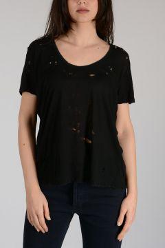 BEN TAVERNITI Jersey Cotton Distressed T-shirt