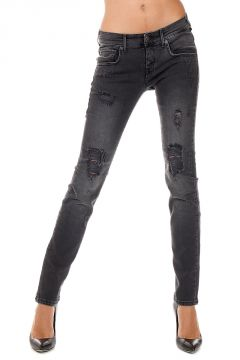 Jeans SISSY in Denim Destroyed 14 cm