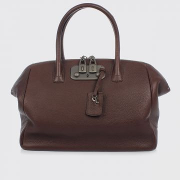 Leather BRERA Bowler Bag