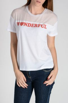 T-Shirt WONDERFUL con Trasparenze
