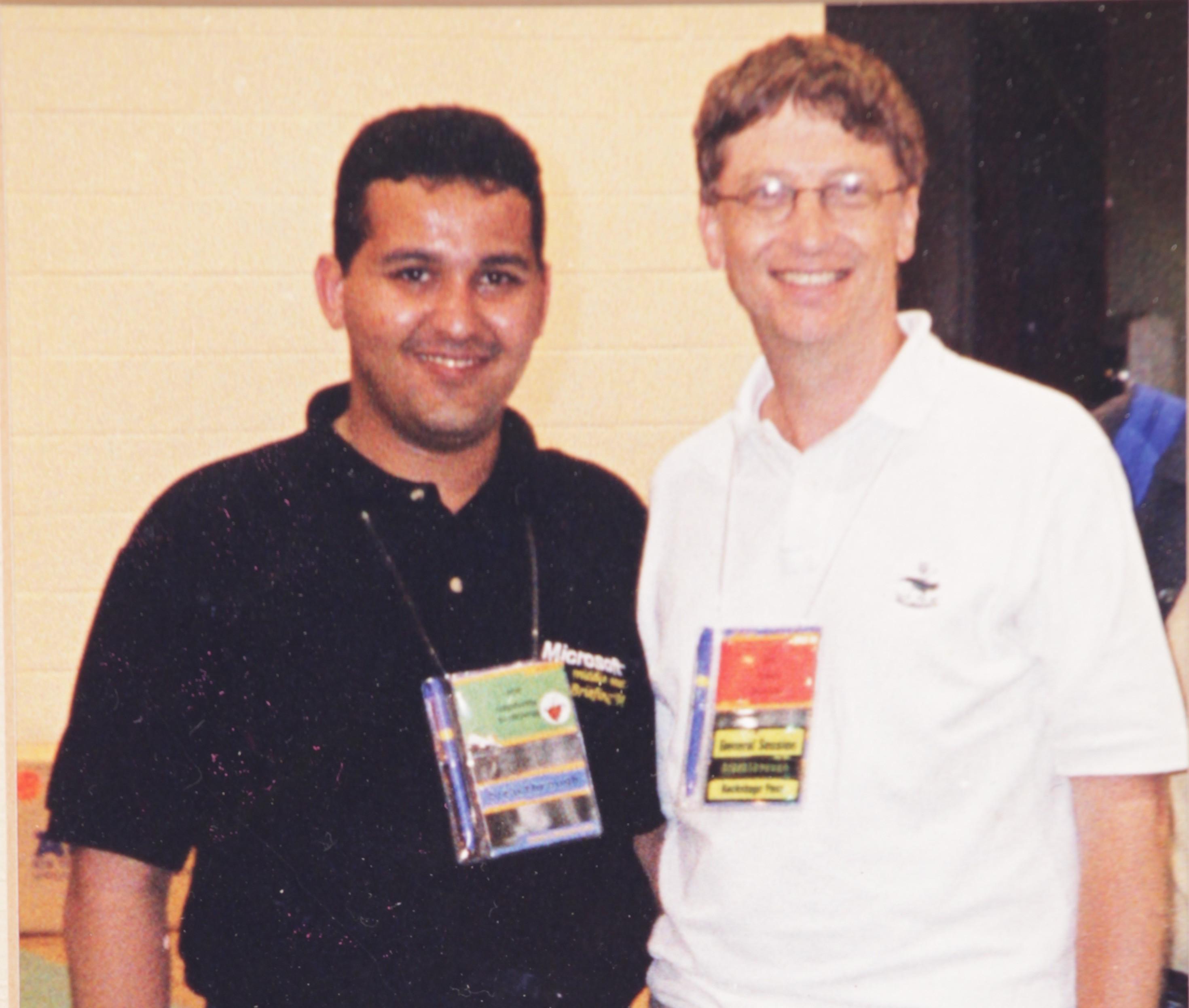 Mustapha Ramadan with Bill Gates