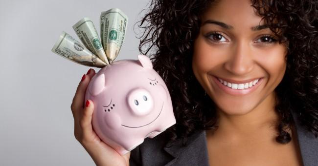 Piggy bank money happy finances