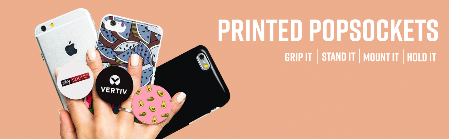 Printed Promotional Branded Pop Sockets Phone Accessories