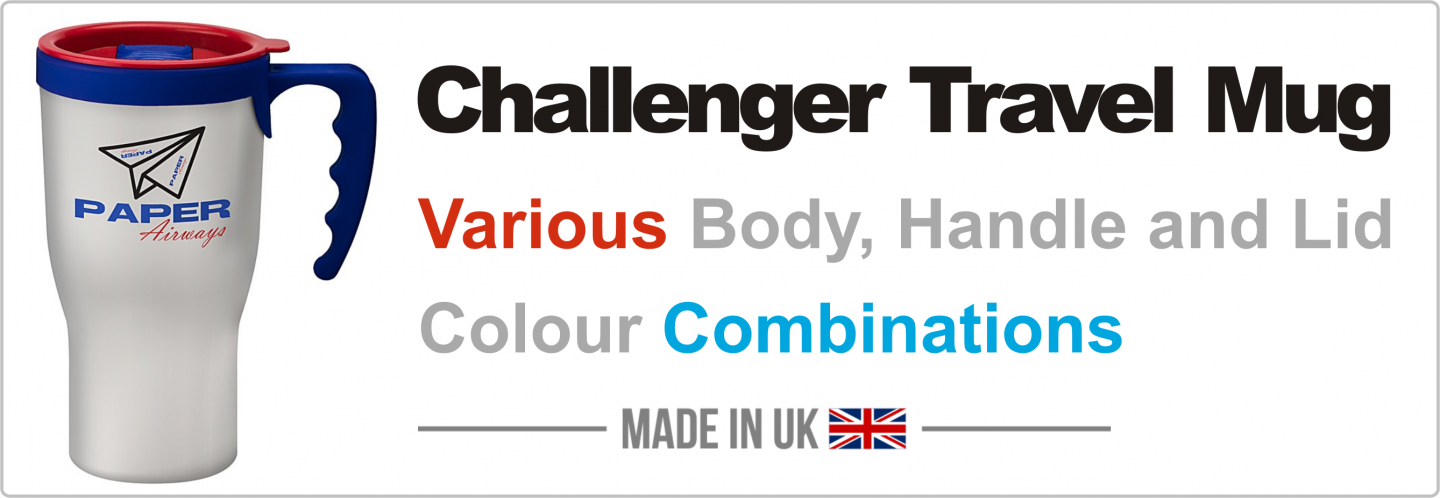 350ml Challenger Travel Mug - Take Away Mug