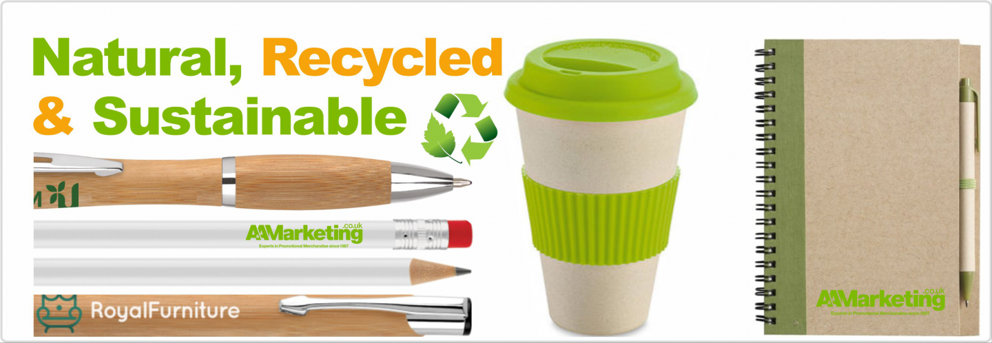 Natural recycled sustainable promotional items