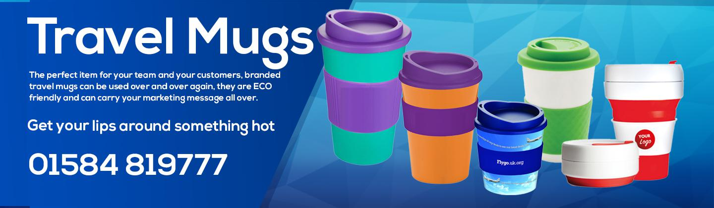 Branded Promotional Travel Mugs