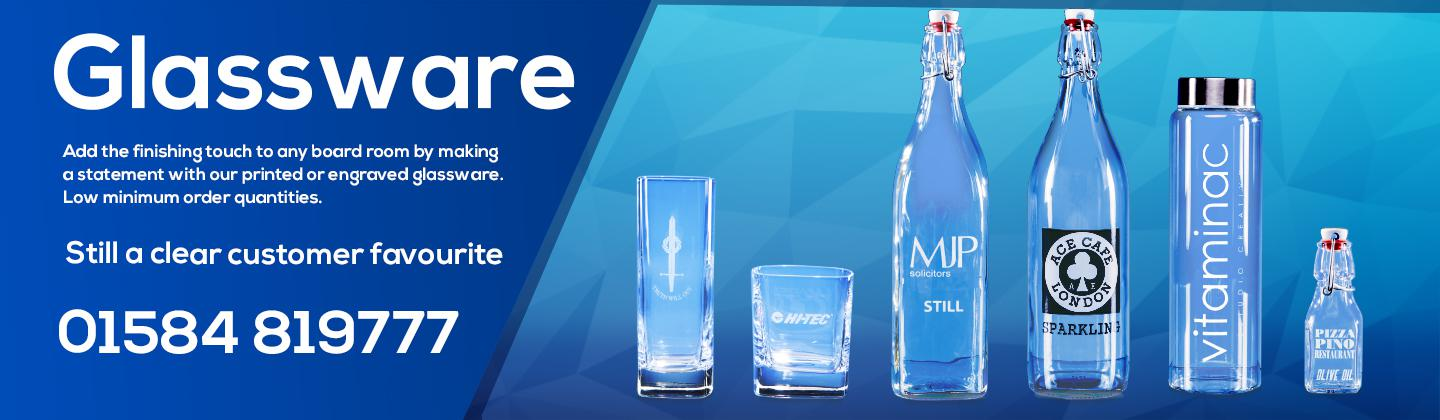 Branded swing top water bottles for boardrooms and meeting rooms are the perfect accompaniment to any meeting. Engraved Glassware bottles glasses awards crystal awards